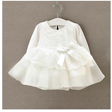 povoljno Odjeća za bebe-Dijete Djevojčice Aktivan Dnevno Jednobojni Čipka Dugih rukava Pamuk bodysuit Obala