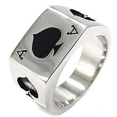 preiswerte Ringe Silber-Herrn Statement-Ring Siegelring Silber Aleación Personalisiert Asiatisch Retro Weihnachts Geschenke Alltag Schmuck