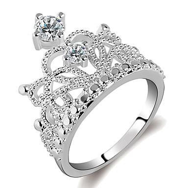 preiswerte Ringe-Damen Ring 1pc Silber Platiert Aleación Alltag Schmuck Niedlich