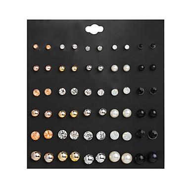 levne Dámské šperky-Dámské Peckové náušnice Klasika Koule Jednoduchý Cute Style Napodobenina perel Náušnice Šperky Černá Pro Dar Denní Street