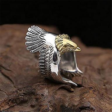 levne Pánské šperky-Pánské Otevřete kruh Nastavitelný kroužek 1ks Zlatá Stříbrná Měď Postříbřené Geometric Shape Vintage Módní Denní Street Šperky 3D Eagle Drahocenný Cool