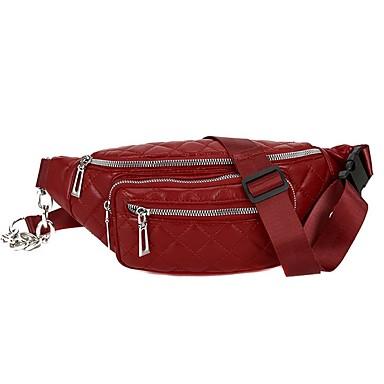 preiswerte Schuhe und Taschen-Damen Reißverschluss PU Hüfttasche Schwarz / Rote
