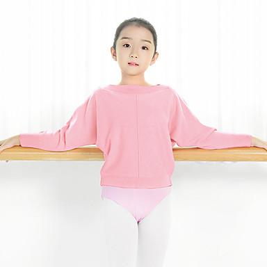 preiswerte Tanzkleider & Tanzschuhe-Ballett Oberteile Mädchen Training / Leistung Gestrickt Horizontal gerüscht Langarm Normal Top