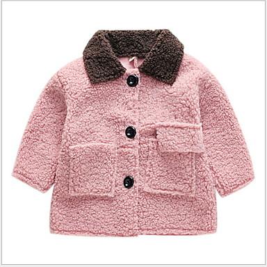 povoljno Jakne i kaputi za djevojčice-Dijete koje je tek prohodalo Djevojčice Osnovni Jednobojni Jakna i kaput Blushing Pink