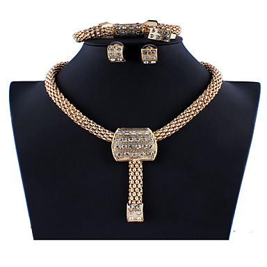 levne Dámské šperky-Dámské Zlatá Svatební šperky Soupravy Link / řetězec Totemová řada stylové Jednoduchý Vintage Náušnice Šperky Zlatá Pro Vánoce Svatební Párty Zásnuby Dar 1 sada