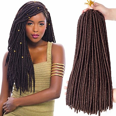 cheap Hair Braids-Faux Locs Dreadlocks Nu Locs Box Braids Synthetic Hair Braiding Hair 24 roots / pack / There are 24 roots per pack. Normally five to six pack are enough for a full head.