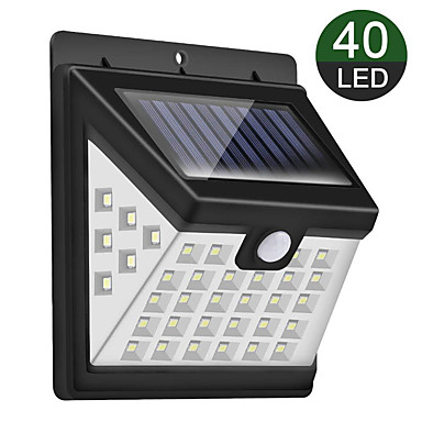 cheap Outdoor Lighting-New Solar Wall Lamp 40 Light Tri-sided Luminous Courtyard Induction Lamp