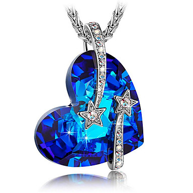 preiswerte Halsketten Herren-Herrn Damen Pendant Halskette Halskette Titanstahl Blau 45 cm Modische Halsketten Schmuck 1pc Für Geschenk Alltag Schultaschen Strasse
