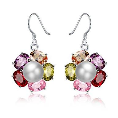 povoljno Modne naušnice-Žene Naušnica Geometrijski Cvijet Stilski Pozlaćeni Imitacija dijamanta Naušnice Jewelry Srebro Za Dar Dnevno 1 par