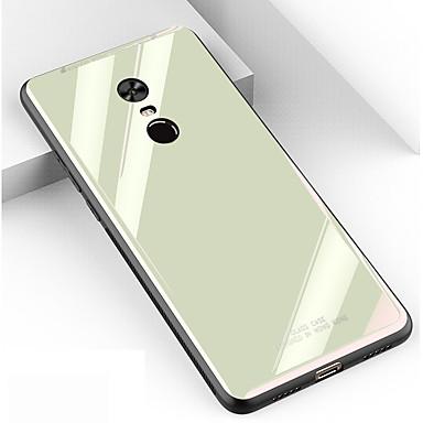 Case Kompatibilitás Xiaomi Redmi Note 5A / Xiaomi Redmi Note 5 Pro / Xiaomi Pocophone F1 Ütésálló Fekete tok Egyszínű Hőkezelt üveg / PC
