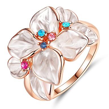 preiswerte Ringe-Damen Ring 1pc Rotgold Platiert Aleación Hochzeit Geschenk Schmuck Niedlich