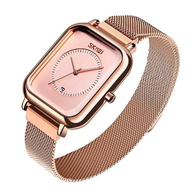 levne Pánské-SKMEI Inteligentní hodinky Automatické natahování Moderní styl Sportovní 30 m Voděodolné S dutým gravírováním Hodinky na běžné nošení Analogové Na běžné nošení Módní - Černá zlatá + bílá Černá / Modrá