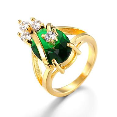 levne Pánské šperky-Pánské Prsten 1ks Zlatá Mosaz Pozlacené Geometric Shape Módní Denní Dovolená Šperky Kytky Cool