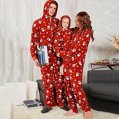 preiswerte Weihnachten-Familienblick Geometrisch Weihnachten Kleidungs Set Rote