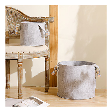 tároló kosár hordozható tartós ruházat-gyűjtő fogantyú henger kiváló minőségű gyapjú filc szövet testreszabható