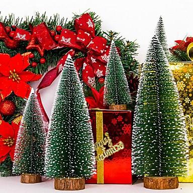 preiswerte Dekoration-Weihnachtsbaum 5pcs eine kleine Kiefer gelegt in die Tischplattenminiweihnachtsdekoration für Hauptweihnachten 3.93inch /5.9inch/ 7.87inch / 9.84 / inch 11.8inch