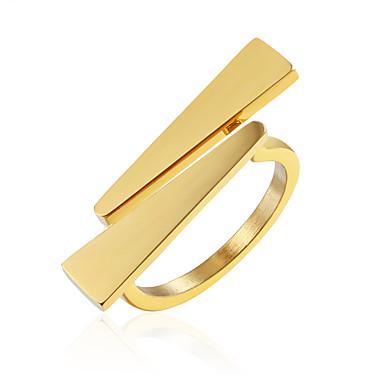 levne Pánské šperky-Pánské Dámské Band Ring Prsten 1ks Zlatá Stříbrná Titanová ocel stylové Základní Casual / Sportovní Dar Denní Šperky