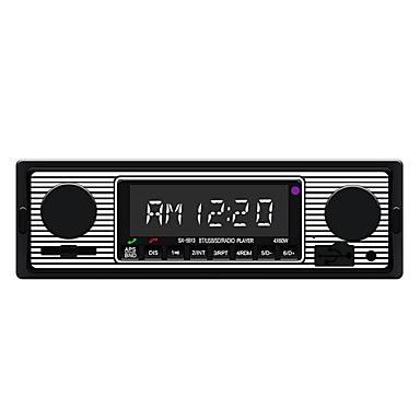 cheap New Arrivals-1 DIN Audio Bluetooth Vintage Car Radio Car MP3 Player Stereo USB AUX Classic Car Stereo Audio Wireless Receiver Mp3 Decoder Board