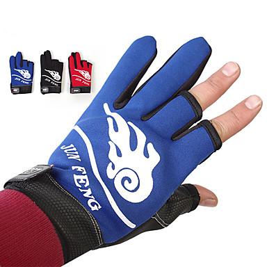 preiswerte Fishing Gloves-Handschuhe fürs Angeln Fingerlos Angeln Allgemein Windundurchlässig Atmungsaktiv warm halten Neopren PU Herbst Winter Herrn Damen