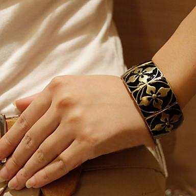 povoljno Modne narukvice-Žene Širok prstenje Geometrijski dragocjen Djetelina Vintage Legura Narukvica Nakit Crn Za Dnevno Ulica Praznik