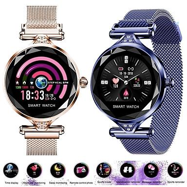levne Pánské-Dámské Digitální hodinky Na běžné nošení Módní Modrá Stříbro Zlatá Slitina Digitální Fialová Zlatá Stříbrná Voděodolné Bluetooth Smart 30 m 1 sada Digitální
