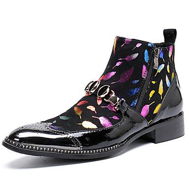 Muškarci Fashion Boots Mekana koža Zima / Jesen zima Ležerne prilike / Uglađeni Čizme Non-klizanje Čizme gležnjače / do gležnja Crn / Zabava i večer