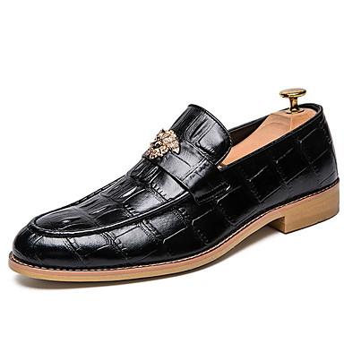 Férfi Kényelmes cipők Bőr Tél Papucsok & Balerinacipők Bokacsizmák Fekete / Barna