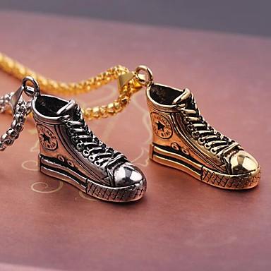 levne Pánské šperky-Pánské Náhrdelníky s přívěšky Bota Punk Chrome Zlatá Stříbrná 60 cm Náhrdelníky Šperky 1ks Pro Denní