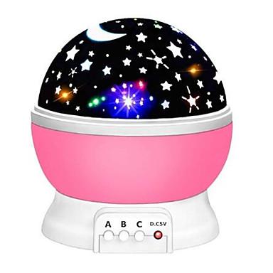 billige Smartlamper-stjerneprojektor månelampe stjerneklar nattlys ledet stjernelys lampara luna usb soveromsfest ladbar nattlys for barn