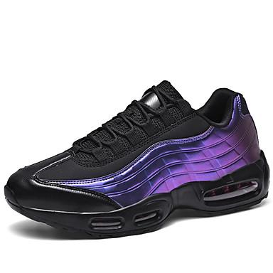 abordables Chaussures de Course Homme-Homme Chaussures de confort Automne Sportif Athlétique Chaussures d'Athlétisme Course à Pied Polyuréthane Ne glisse pas Blanche / Noir / Violet