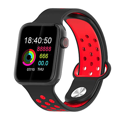 cheap Jewelry & Watches-Smartwatch Digital Modern Style Sporty Silicone 30 m Water Resistant / Waterproof Heart Rate Monitor Bluetooth Digital Casual Outdoor - Black / Gray Black / Green Black / Red