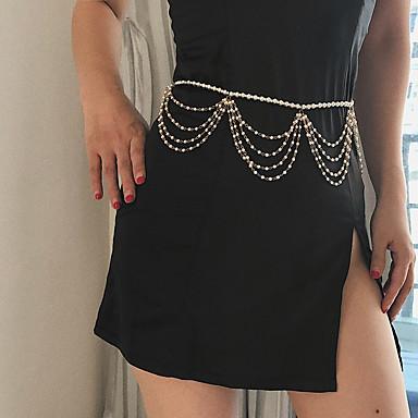 preiswerte Körperschmuck-Damen Körperschmuck :77+15 cm Hüftkette Gold Künstliche Perle / Aleación Modeschmuck Für Party / Verlobung / Geschenk Sommer