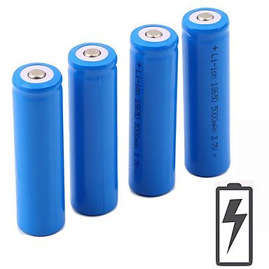 cheap Under €19-Li-ion 18650 Battery 5000 mAh 4pcs 3.7 V Rechargeable Portable for LED Flashlight Bike Light Headlamps Camping / Hiking Hunting Fishing