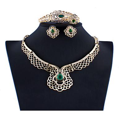levne Dámské šperky-Dámské Zlatá Svatební šperky Soupravy Link / řetězec Totemová řada stylové Klasické Vintage Pryskyřice Náušnice Šperky Zlatá Pro Vánoce Svatební Párty Zásnuby Dar 1 sada