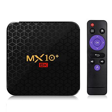 preiswerte TV-Boxen-mx10 plus android 9.0 smart tv box allwinner h6 6 karat 4 gb / 64 gb 2,4 g / 5 g wifi bt4.0 100 m lan usb3.0 h.265 vp9 media player