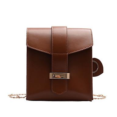preiswerte Taschen für Handys-Damen Kette Polyester / PU Handy-Beutel Volltonfarbe Braun / Dunkelbraun / Rote
