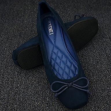 levne Dámské boty s plochou podrážkou-Dámské Bez podpatku Rovná podrážka Čtvercová špička PU Zima Černá / Fialová / Armádní zelená