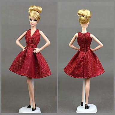 Dollklänning Fest / afton För Barbie Spets Organza Klänning För Flicka Dockleksak