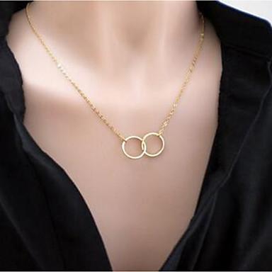 povoljno Modne ogrlice-Žene Ogrlice s privjeskom Dvobojna Jednostavan Krom Zlato 45 cm Ogrlice Jewelry 1pc Za Dnevno