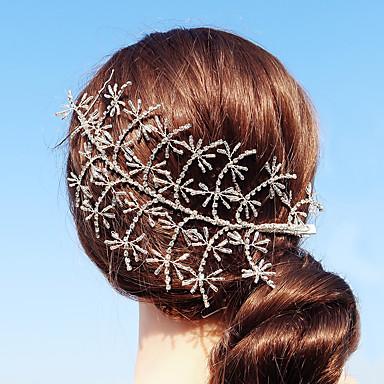 povoljno Party pokrivala za glavu-Kristal / Umjetno drago kamenje Ukosnica s Štras 1 komad Vjenčanje / Dnevni Nosite Glava