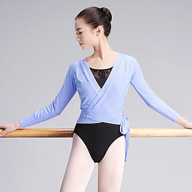 preiswerte Tanzkleider & Tanzschuhe-Ballett Oberteile Damen Training / Leistung Nylon Bandverzierungen Langarm Normal Top