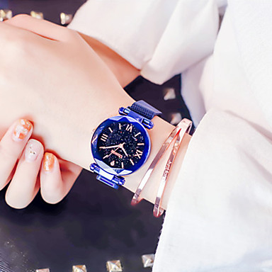 cheap Square & Rectangular Watches-Women's Quartz Watches Quartz Stylish Glitter Casual Chronograph Black / Blue / Gold Analog - Black Blue Purple Two Years Battery Life