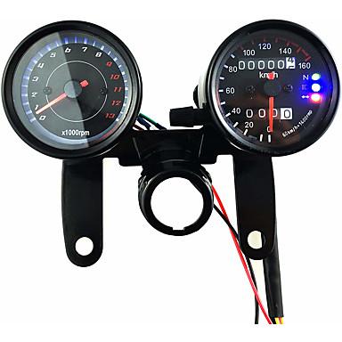 povoljno Automoto-12v motocikl skuter crno vodio mjerač brojača brzinomjera i tahometar 13000 o / min s nosačem