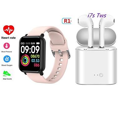 cheap Smart Wristbands-Smart Bracelet Health Bracelet Sports Bracelet Heart Rate Blood Pressure with TWS Bluetooth Wireless Headphones Music Headphones