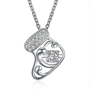 povoljno Modne ogrlice-Žene Kubični Zirconia Ogrlice s privjeskom Geometrijski Božićno drvce Kamen Rose Gold Srebro 45+5 cm Ogrlice Jewelry 1pc Za Božić Festival