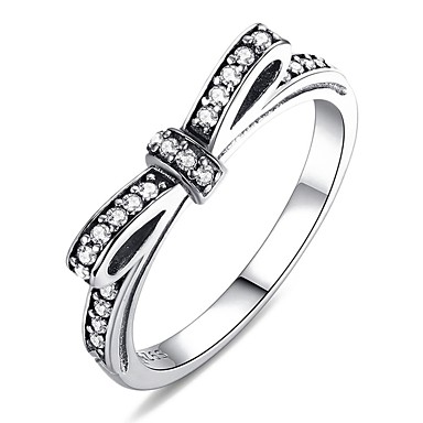 preiswerte Ringe-Damen Ring 1pc Silber Platiert Aleación Alltag Schmuck Katze Schmetterling Niedlich