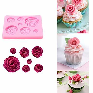 1db Szilikon Cake süteményformákba Bakeware eszközök
