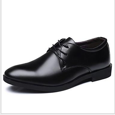 cheap Men's Shoes-Men's Comfort Shoes Microfiber Winter Oxfords Black