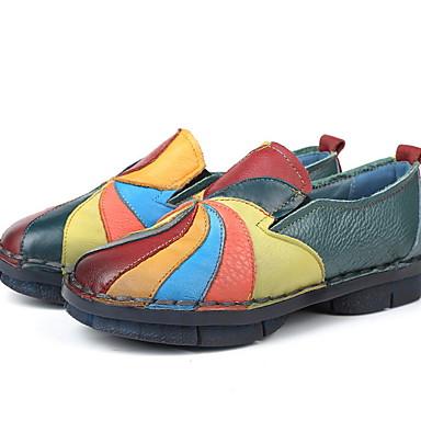 levne Dámské boty s plochou podrážkou-Dámské Bez podpatku Rovná podrážka Oblá špička PU Zima Žlutá