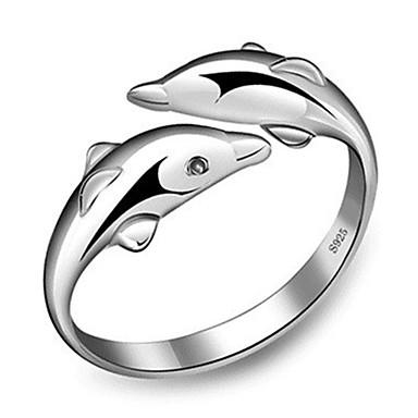 preiswerte Ringe-Damen Ring 1pc Silber Platiert Aleación Stilvoll Alltag Schmuck Niedlich
